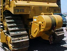 Tractor mounted winches